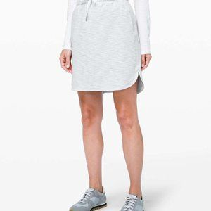 "Lululemon On The Fly Skirt 21"" in Heather Grey"